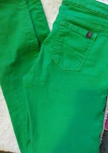North Face green jeans size6